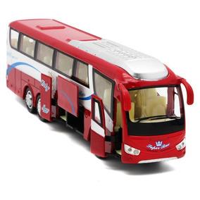 Miniatura De Ônibus Irizar Varias Funções Metal Abre Portas