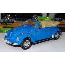 1:24 Volkswagen Beetle Convertible 1972 Azul Welly C Caja