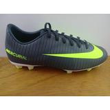Zapatos Nike Mercurial Vapor 11 Cr7 Fg Gris / Verde Niño
