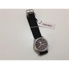 Relógio Automático Seiko Militar Preto