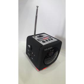 Caixa De Som Portátil Pequena Mp3 Usb Radio