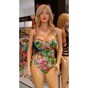 Traje De Baño Trikini Fashion Sol Copas Prehormadas Estampad