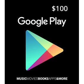 Tarjeta Gift Card Google Play 100 Mxn Mexicana Android Pc