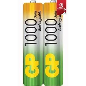 Pilas Baterias Recargables Gp Aaa 1000 Mah 2 Unid Sellado