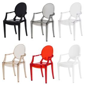 4 Cadeiras Sofia Cozinha Jantar Policarbonato Frete Grátis!