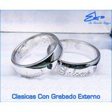 Argollas Matrimonio O Compromiso Plata 950 Oferta C/u+grabad