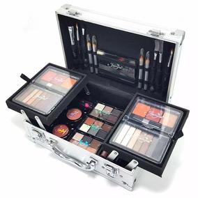 Maleta Maquiagem Completa Jasmyne Macrilan Kit 56 Itens V268