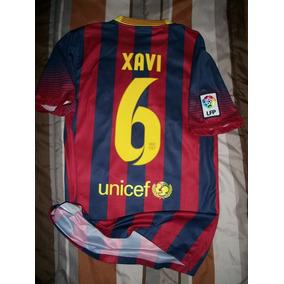 Jersey Camiseta Nike Fc Barcelona 2013 2014 Xavi Local