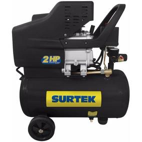 Compresor Lubricado De Aire 25lt 2hp Surtek Comp425a