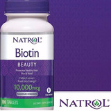 Biotin Natrol 10,000 Mcg 100 Tabletas - Versión Mejorada Usa