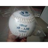 Pelota De Softball Tamanaco Nacional Sb-120 Letra Azul