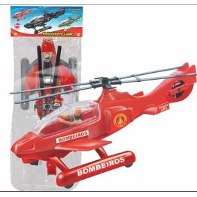 Helicóptero De Brinquedo Bombeiro Resgate Lider