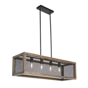 Lámpara Colgante De Madera Ashley Furniture