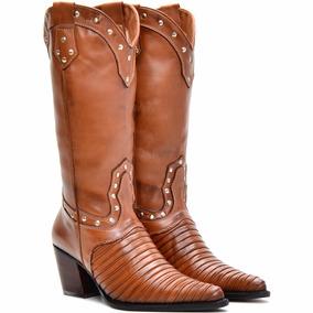a563388c2e720 Bota Country Texana Feminina Montaria Anaconda Capelli Boots - Botas ...