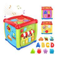 Cubo Didáctico Musical 6 En 1 Formas Aprendizaje Niños