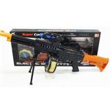 Arma Tipo Metralladora, Con Soporte Y Municiones, Flash De L