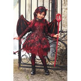 Disfraz Diabla Niña Punk Diablita Traje Diablo Halloween