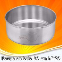 Forma Para Bolo Torta Redonda 10 Cm Em Alumínio N°20