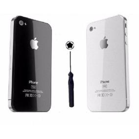 Tampa Traseira Iphone 4s 4 Original De Vidro+ Chave Estrela