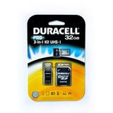 Tarjeta Micro Sd 32gb Duracell Clase 10 Adaptador 3 En 1