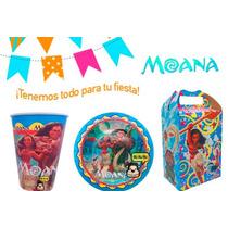 Fiesta Moana Platos Vasos Bolo Cajas Dulces Bolsas
