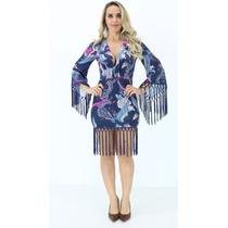 Vestido Lança Perfume Azul Estampado I17