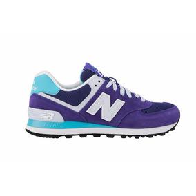 Tenis New Balance Lyfestile Sneakers Wl574cph Purple Blue