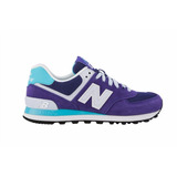 Tenis New Balance Lyfestile Sneakers Wl574cph Purple Blue