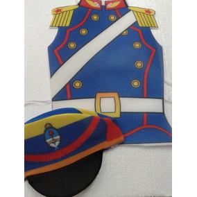 Disfraz Pechera Granadero Estampada Con Gorro Patrio