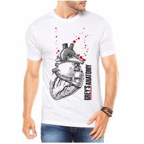 Camiseta Masculina Personalizada Greys Anatomy Coração Real
