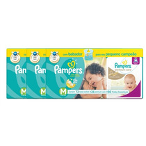 3 Kits Fraldas Pampers M Total Confort 216 + Premium Care 72