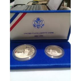 Magnífico Set Moedas Americanas Fc No Estojo Prata E Nickel