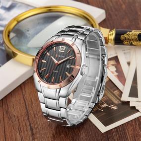 742b9ee2ed0 Relogio Dourado Curren De Luxo Masculino - Relógios De Pulso no ...
