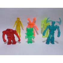 Paquete De 6 Figuras Mazinger Z Bootleg Resina Traslucida
