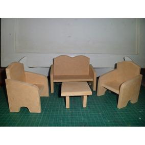 Muebles Para Muñecas En Mdf Crudo