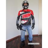 Casaca Cuero Moto Agv Sport Diseño Italiano Proteccion Real