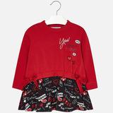 Vestido Mayoral Para Niña Est. 4976 Rojo 2 3 5 7 Y 9 Años