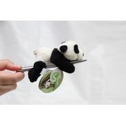 Mini Ursinho Urso De 12cm Panda Pelúcia Imã De Geladeira