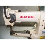 Maquina De Costura Golden Wheel Cs-335bh Transp Triplo Usada