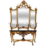Aparador T Marmore C Espelho De Cristal Gigante 258cm