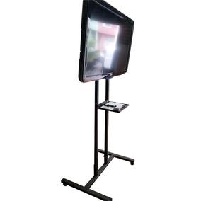Pedestal Suporte De Chão Tv Lcd Led Plana Smart 32 À 65 Pol