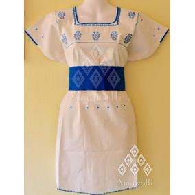 Lote 12 Vestidos Artesanales Mexicanos Tzukumo De Manta