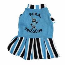 Roupa Pet Grêmio Vestido Fera Tricolor Cães Tamanhos 0 A 16