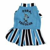 Roupa Pet Grêmio Vestido Fera Tricolor Cães Tamanhos 8 A 16