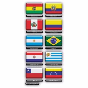 Cartela Adesivos Bandeira Paises Moto Carro