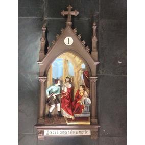 Escultura De Quadros Em Resina Da Via Sacra Com 14 Estações