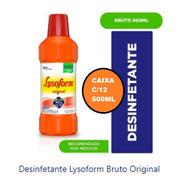 Lysoform 500ml Cx C/12 Limpeza Prevenir Doenças Transmissão