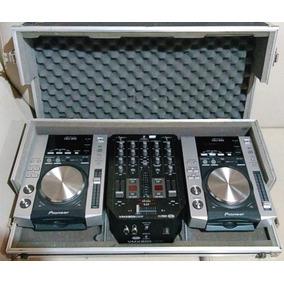 Par Cdj200 Pionner + Mixer Behringer + Case - Novos !