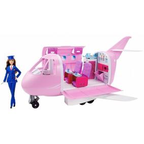 Jet De Lujo Con Muñeca Barbie Fnf09