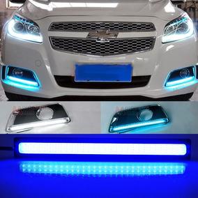 Fita Led Automotivo Azul Cristal 17 Cm Nova 12v, Alto Brilho